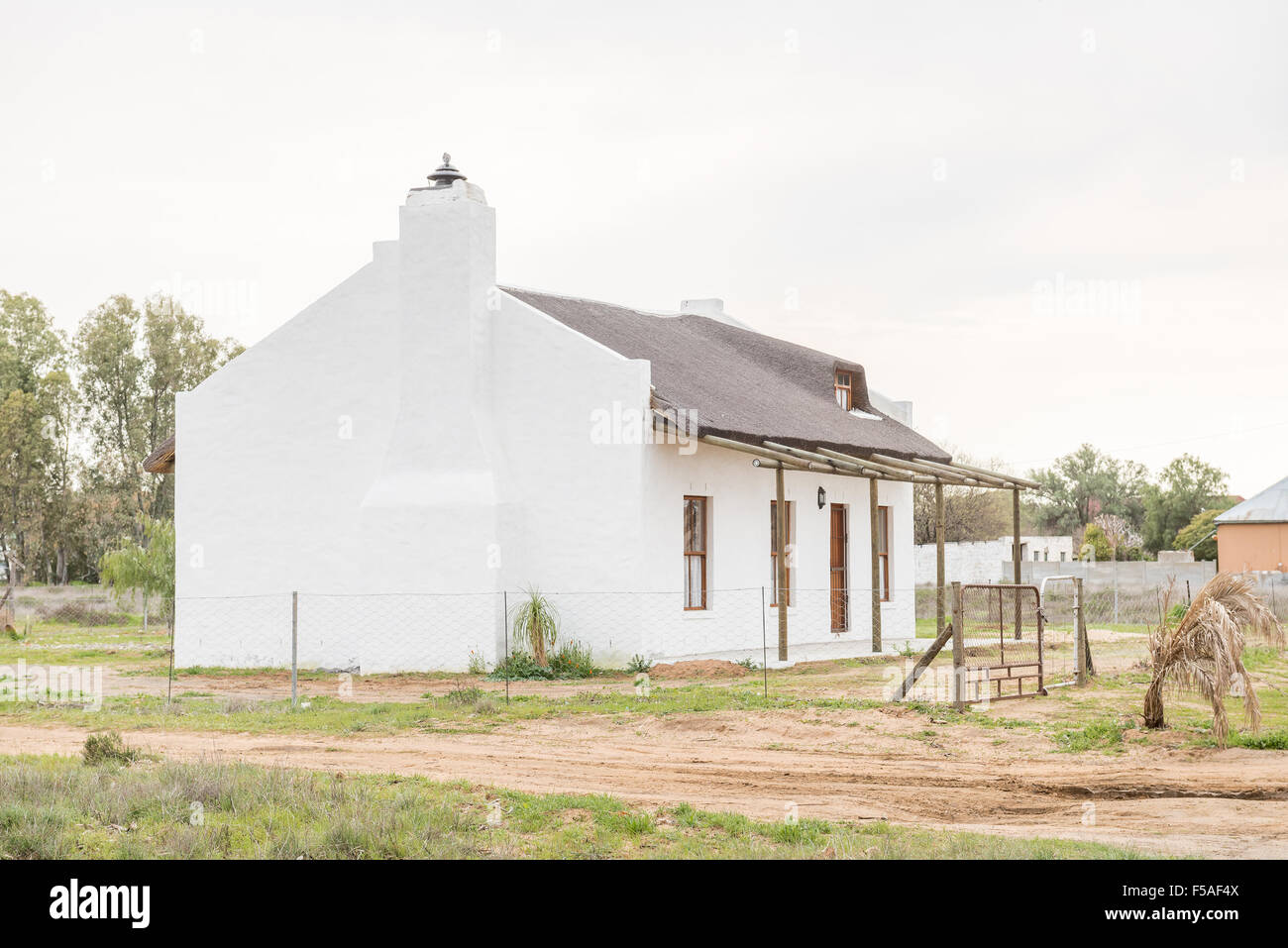 nieuwoudtville south africa august 12 2015 a rustic house in nieuwoudtville a small town in the hantam region of the north