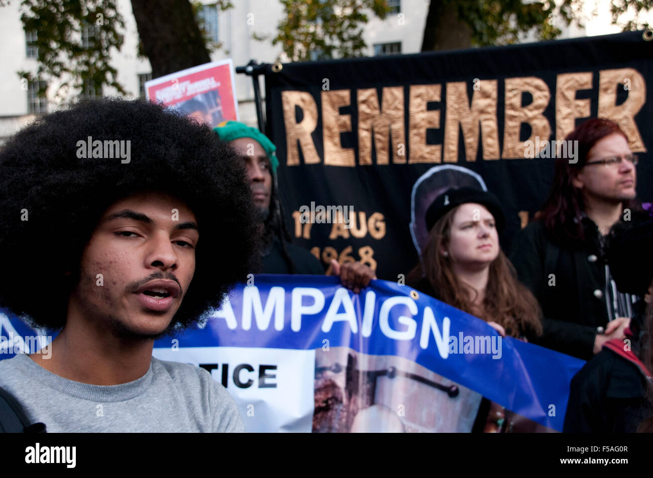 Friends and families of those who Died in Police Custody march through London Death in Custody Campaign - Stock Image