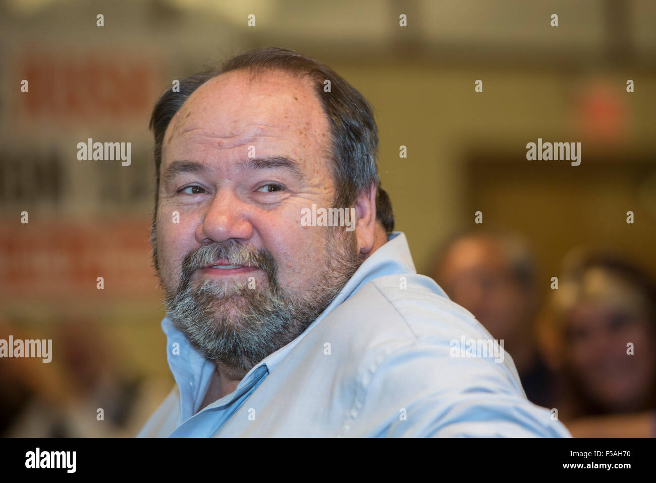 Cleveland, Ohio - Tim Sylvester, candidate for president of the Teamsters Union. - Stock Image