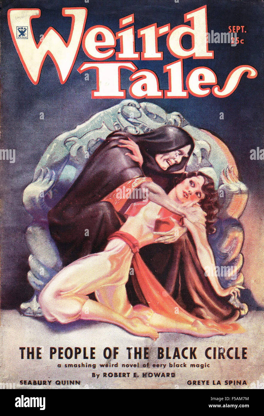 WEIRD TALES September 1934 cover of the American science fiction magazine - Stock Image