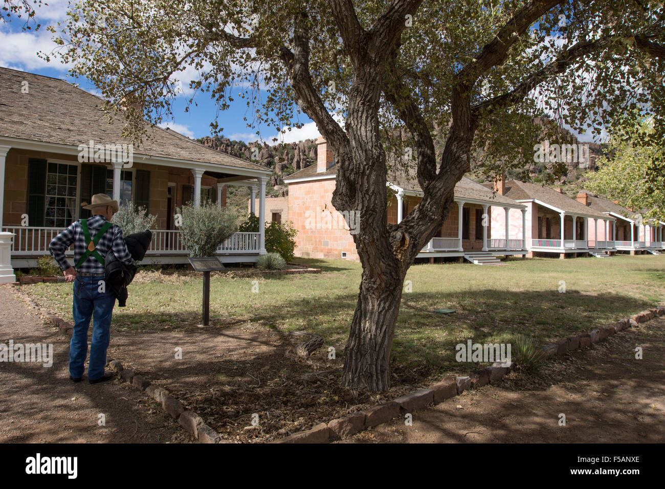 Fort Davis National Historic Site, Texas, one of the best surviving examples of an Indian Wars' frontier military - Stock Image