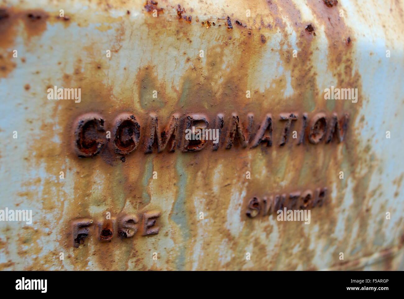Rusted Fuse Box Stock Photo 89363142 Alamy Car India