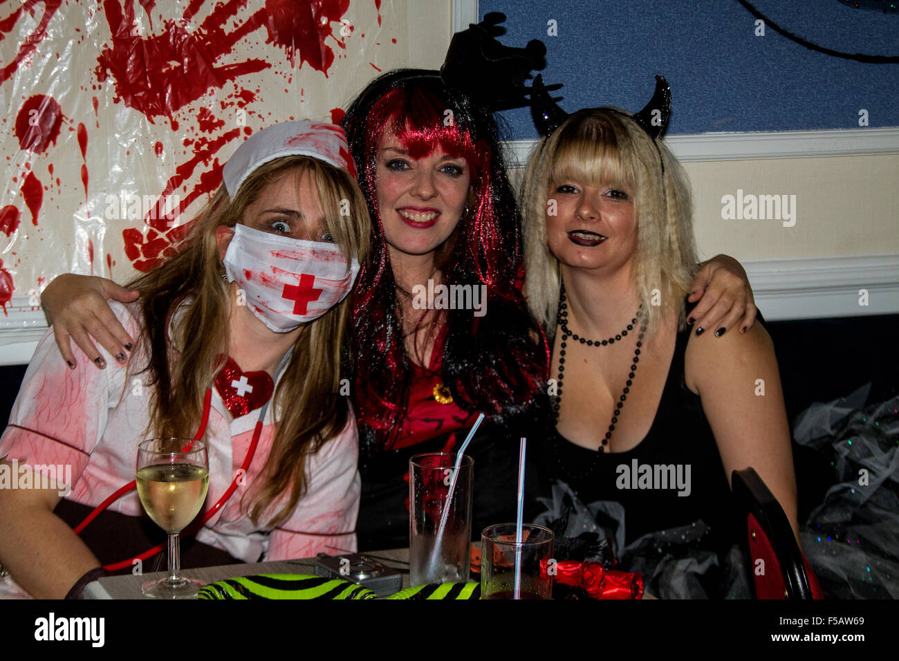 Dundee, Tayside, Scotland, UK, 31st October 2015 Halloween fundraiser event for the special Bay Baby`s Unit at Ninewells Stock Photo