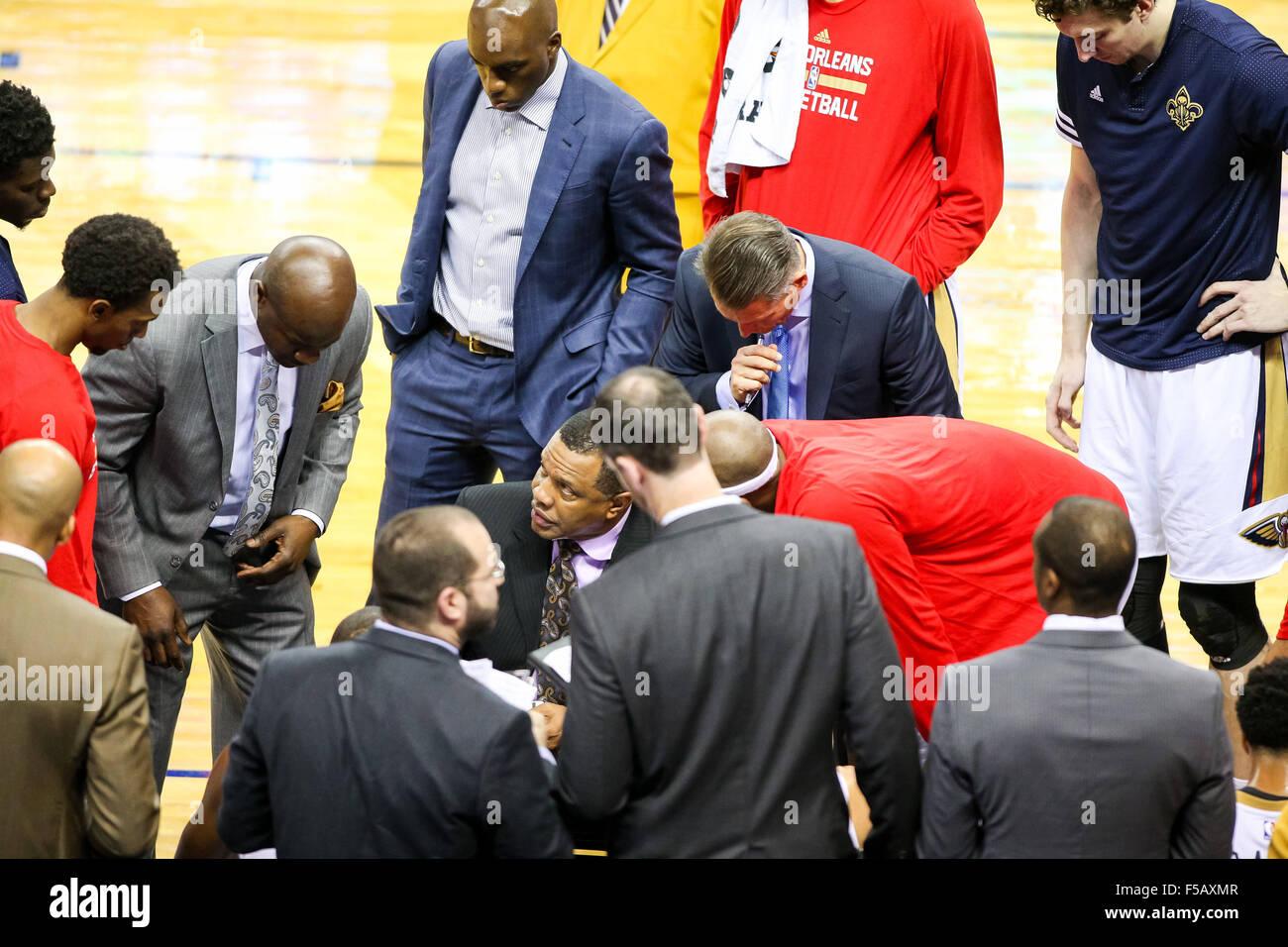 New Orleans La Usa 31st Oct 2015 New Orleans Pelicans