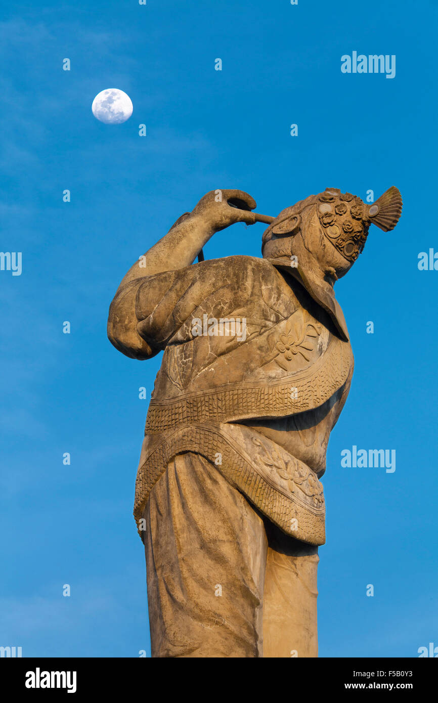The monument of the volador or flyer in Papantla, Veracruz, Mexico. - Stock Image