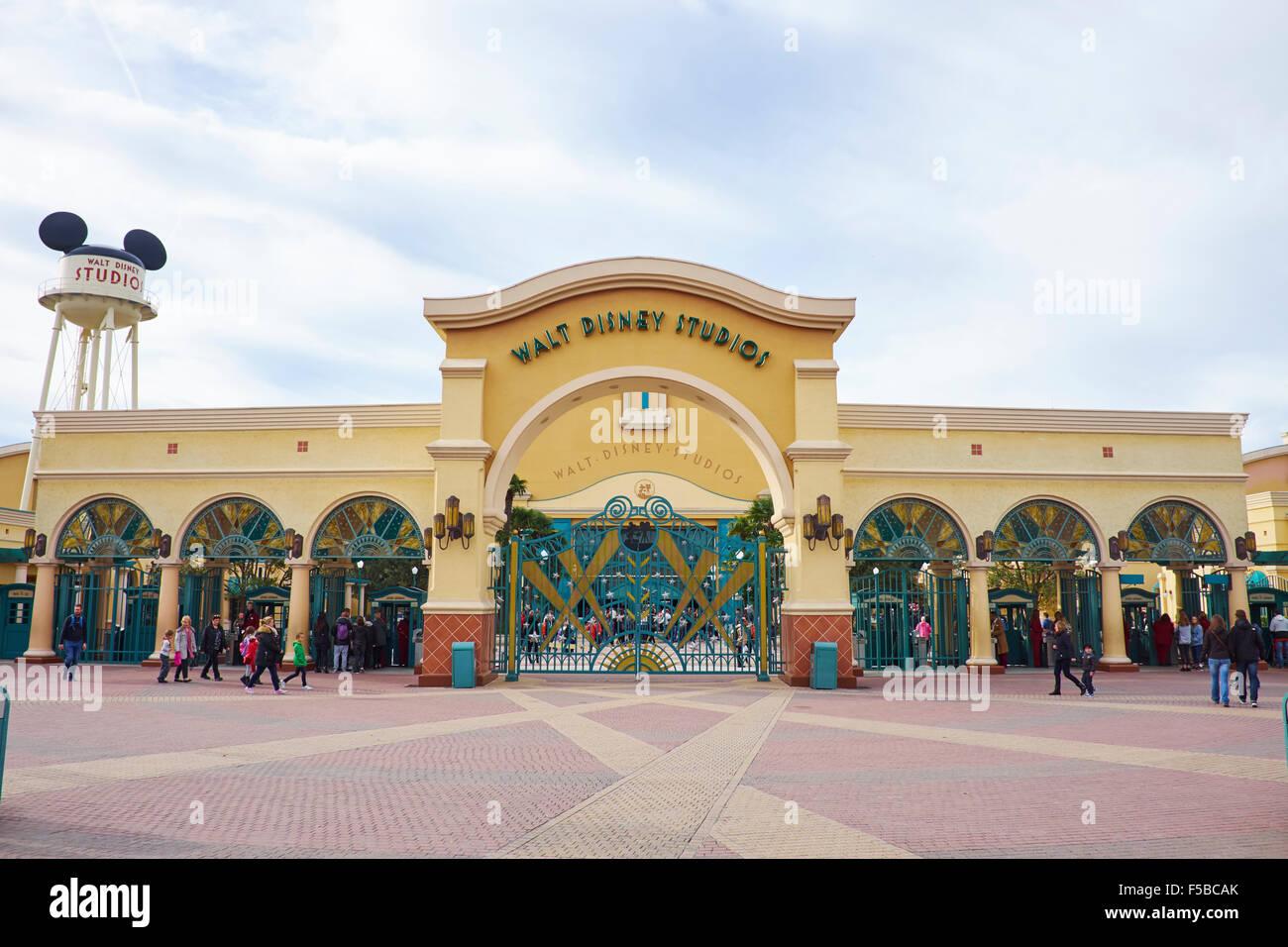 Entrance To Walt Disney Studios Disneyland Paris Marne La