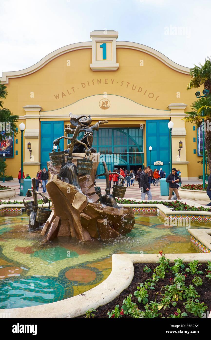 Entrance To Walt Disney Studios Disneyland Paris Marne La Vallee