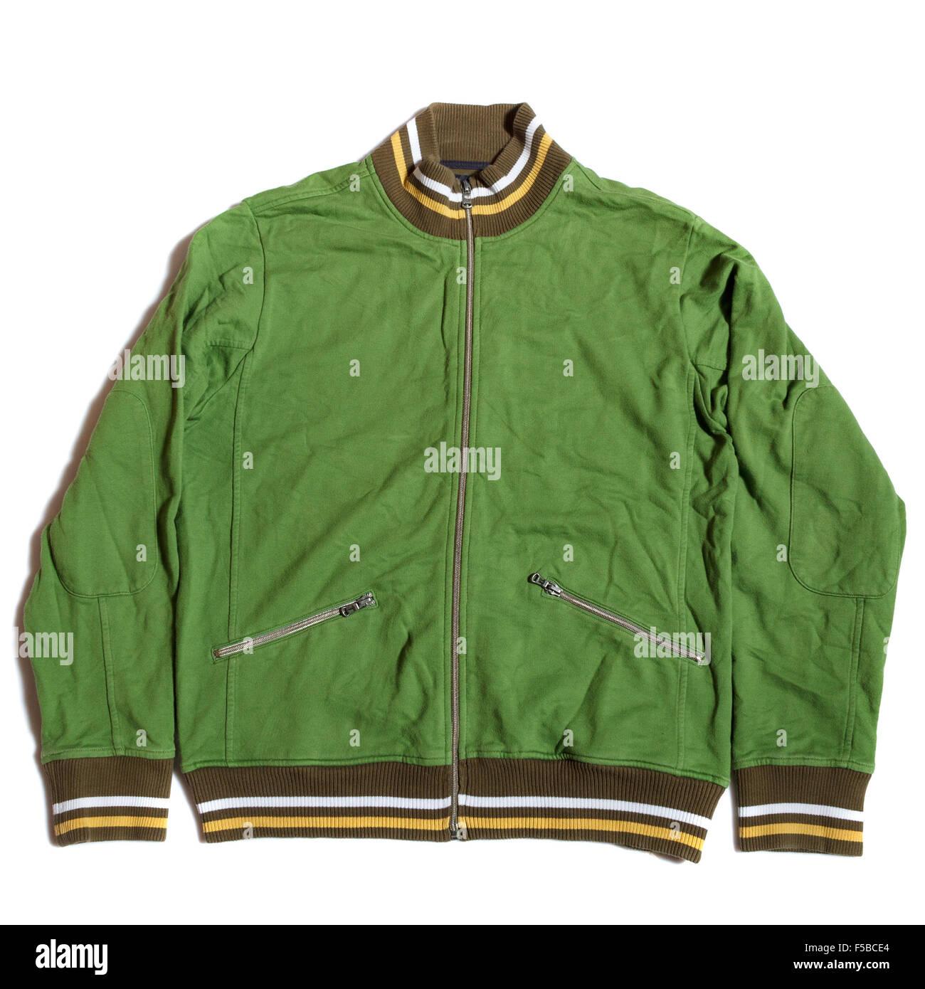 Light green jacket - Stock Image
