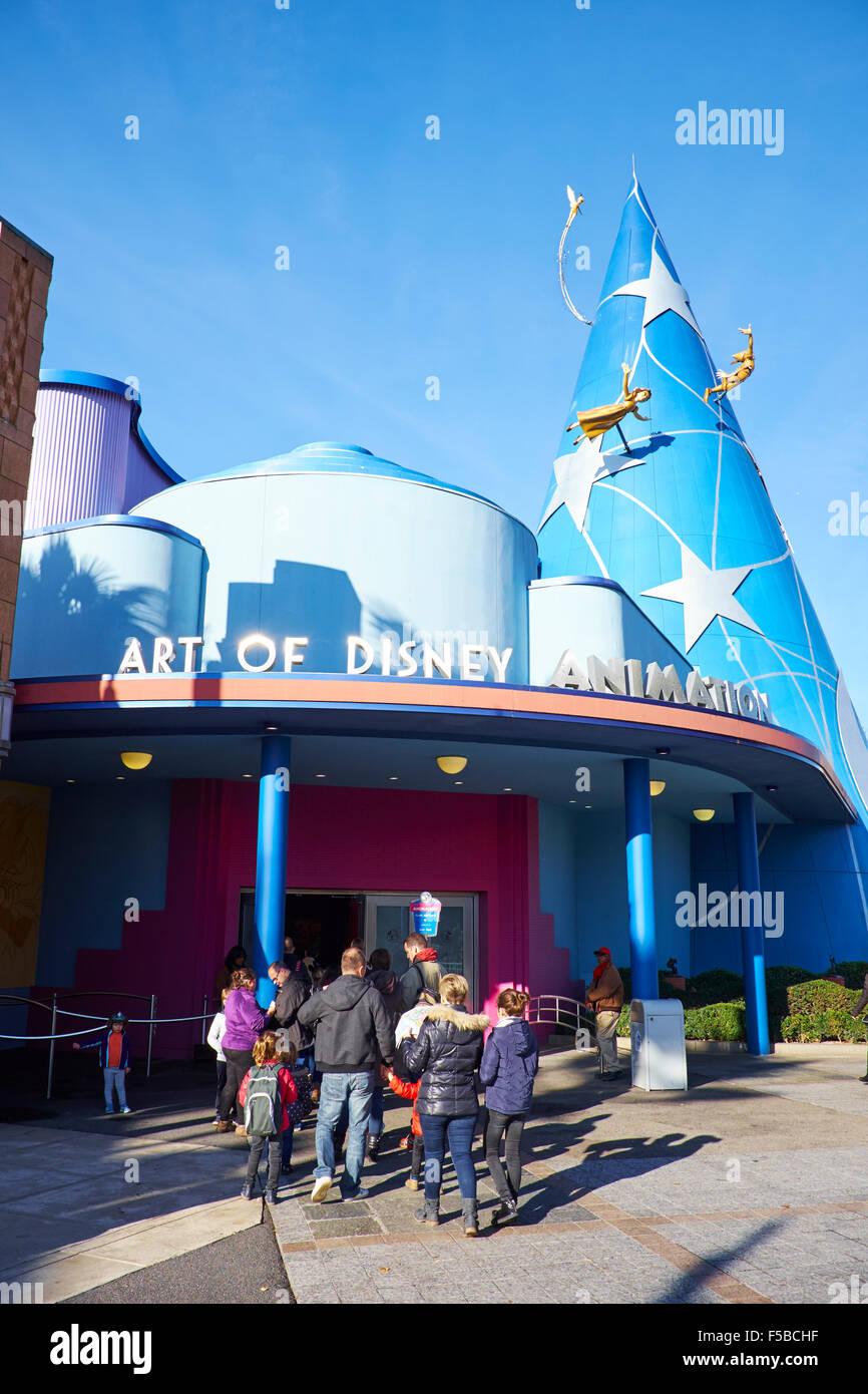 Art Of Disney Animation Walt Disney Studios Disneyland Paris Stock