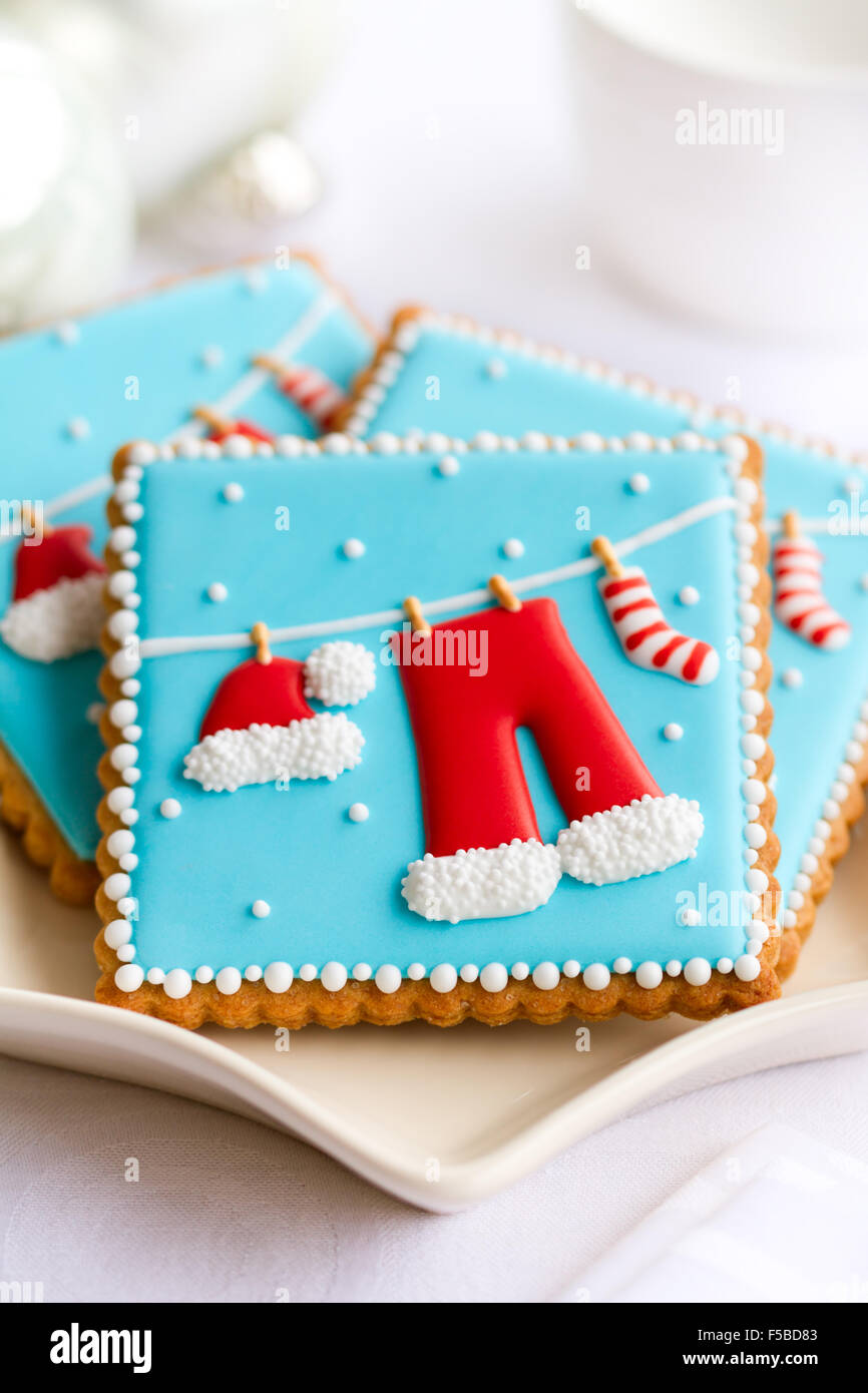 Decorated Christmas Cookies.Plate Of Decorated Christmas Cookies Stock Photo 89377011