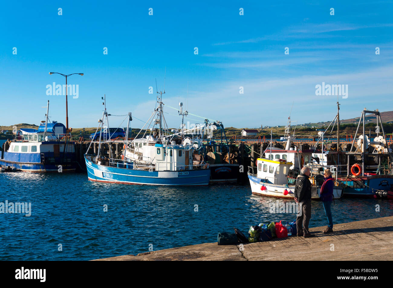 Burtonport County Donegal Ireland Weather 1st November 2015 A Stock Photo Alamy