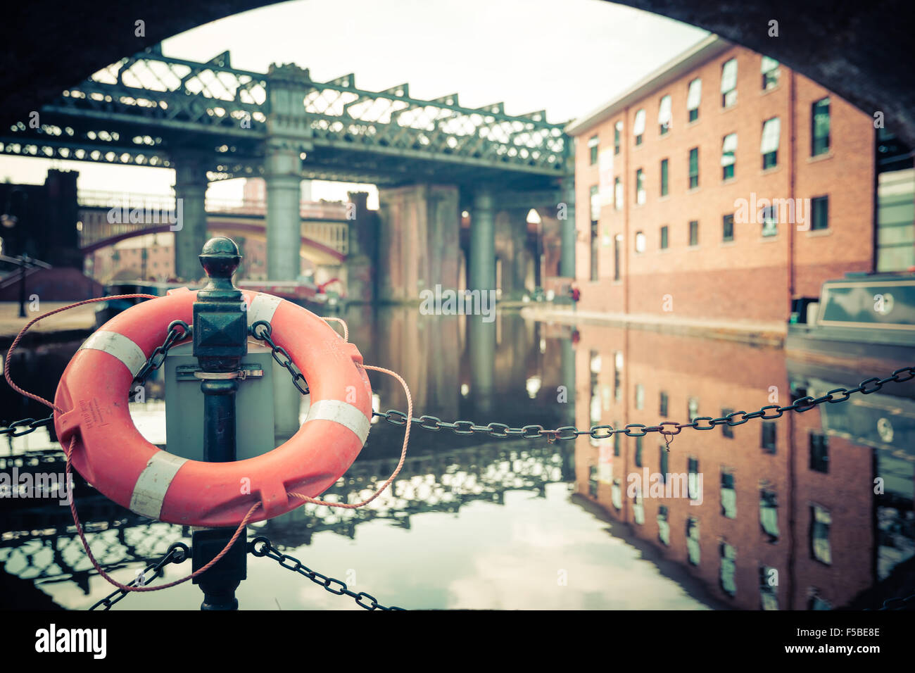 Castlefield Reflections - Stock Image