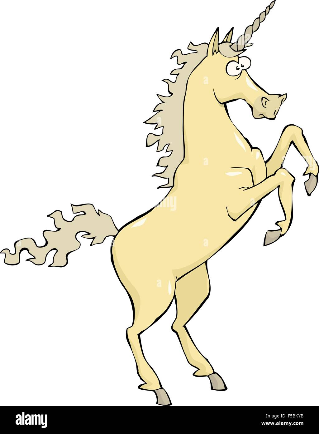Unicorn on a white background vector illustration - Stock Vector