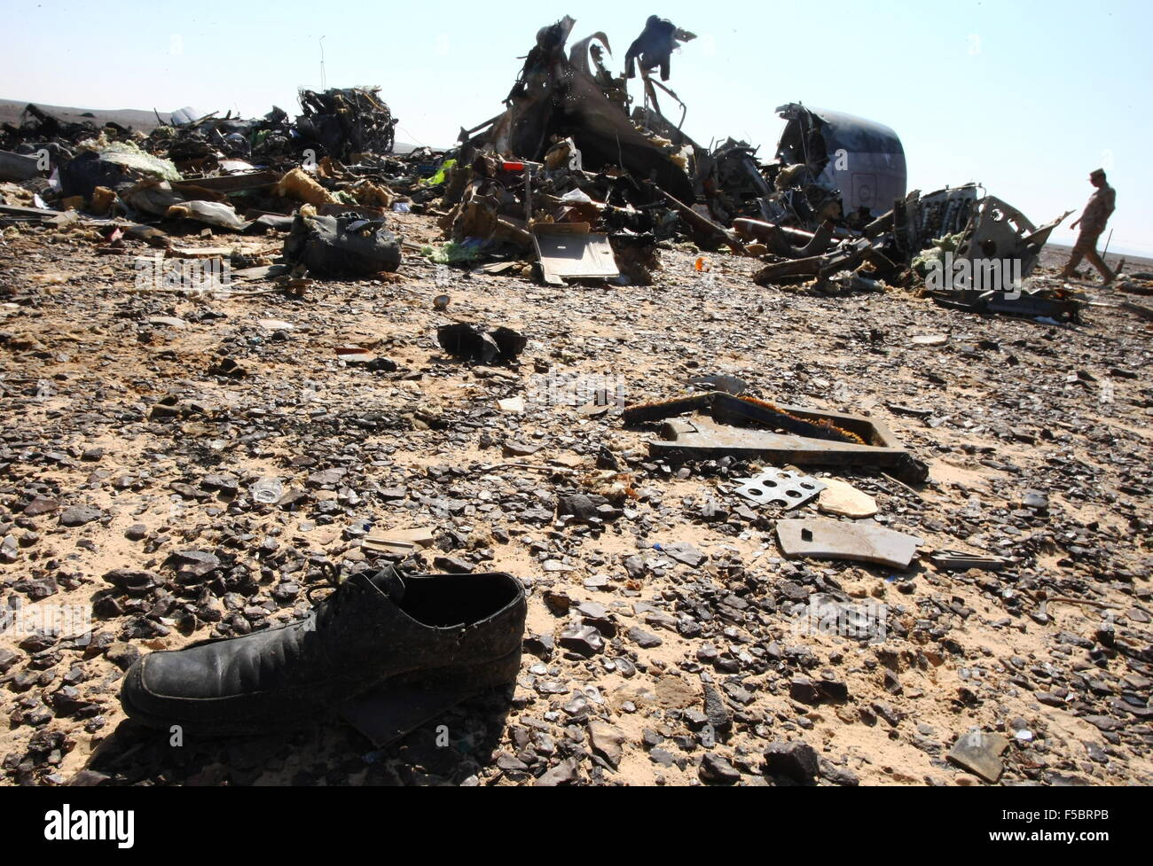 EGYPT  NOVEMBER 1, 2015  The site where a Russian aircraft