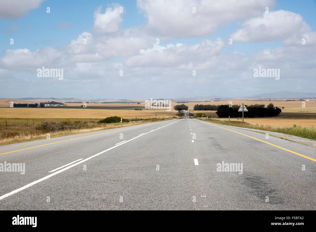 The Cape Namibian Highway passing through the Swartland region South Africa - Stock Image