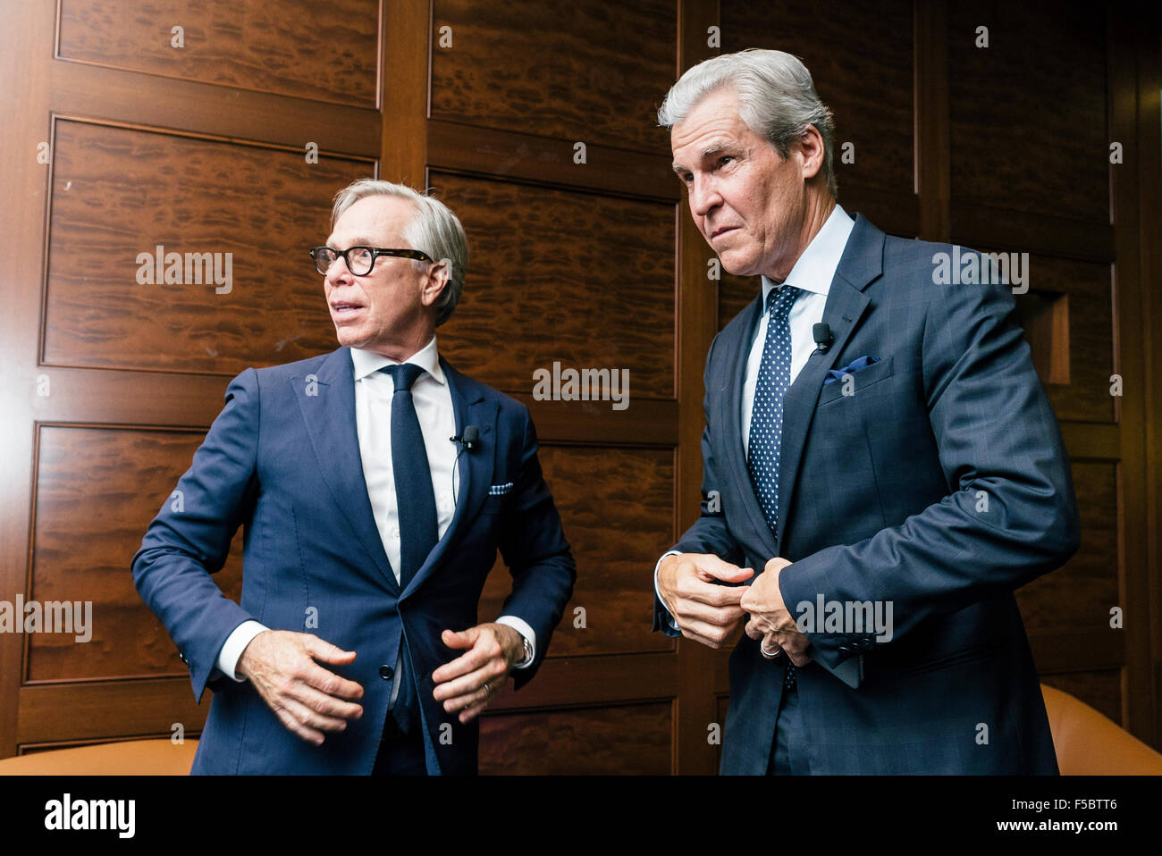 Best friends Terry Lundgren and Tommy Hilfiger - Stock Image