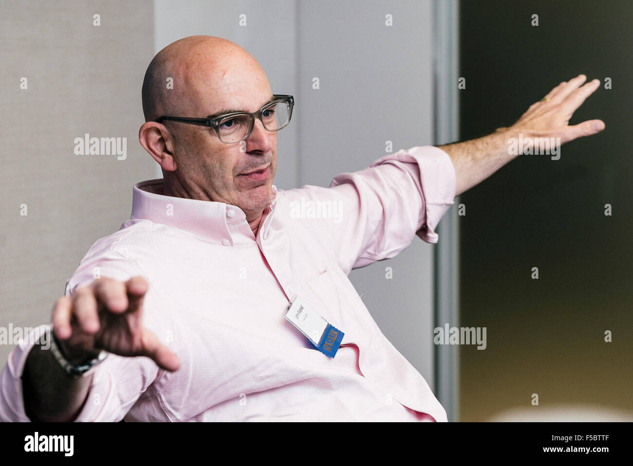 British Early stage venture capitalist John Frankel - Stock Image
