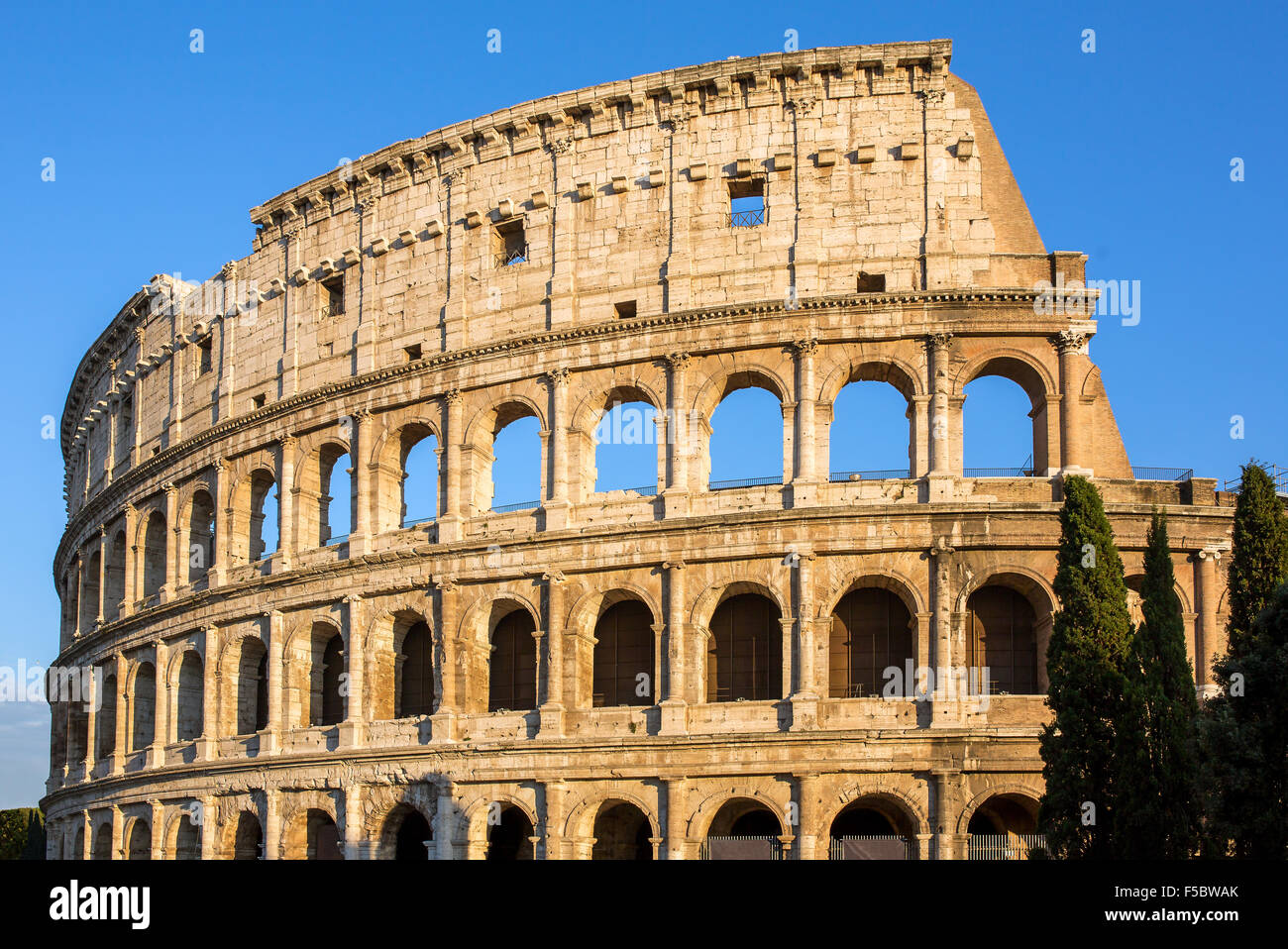 Sunrise Colosseum in Rome, Italy Stock Photo