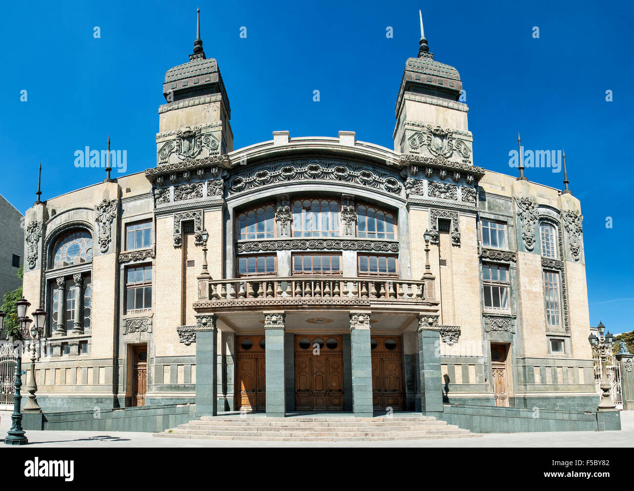 Akhundov Azerbaijan State Academic Opera and Ballet Theater in Baku. - Stock Image