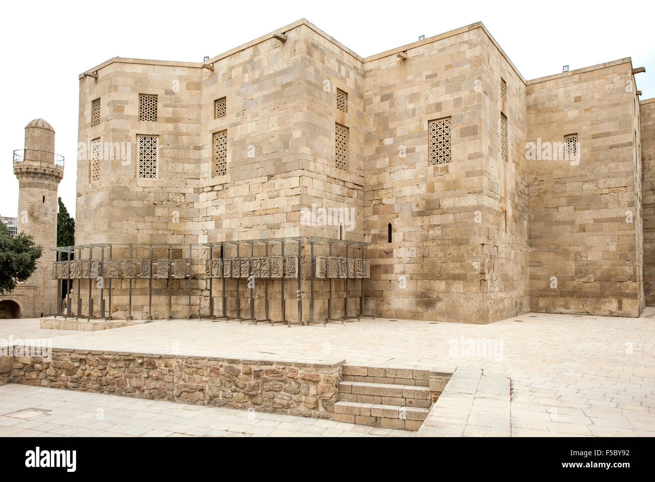 Palace of the Shirvanshahs in Icheri Sheher, the old town in Baku, capital of Azerbaijan. - Stock Image