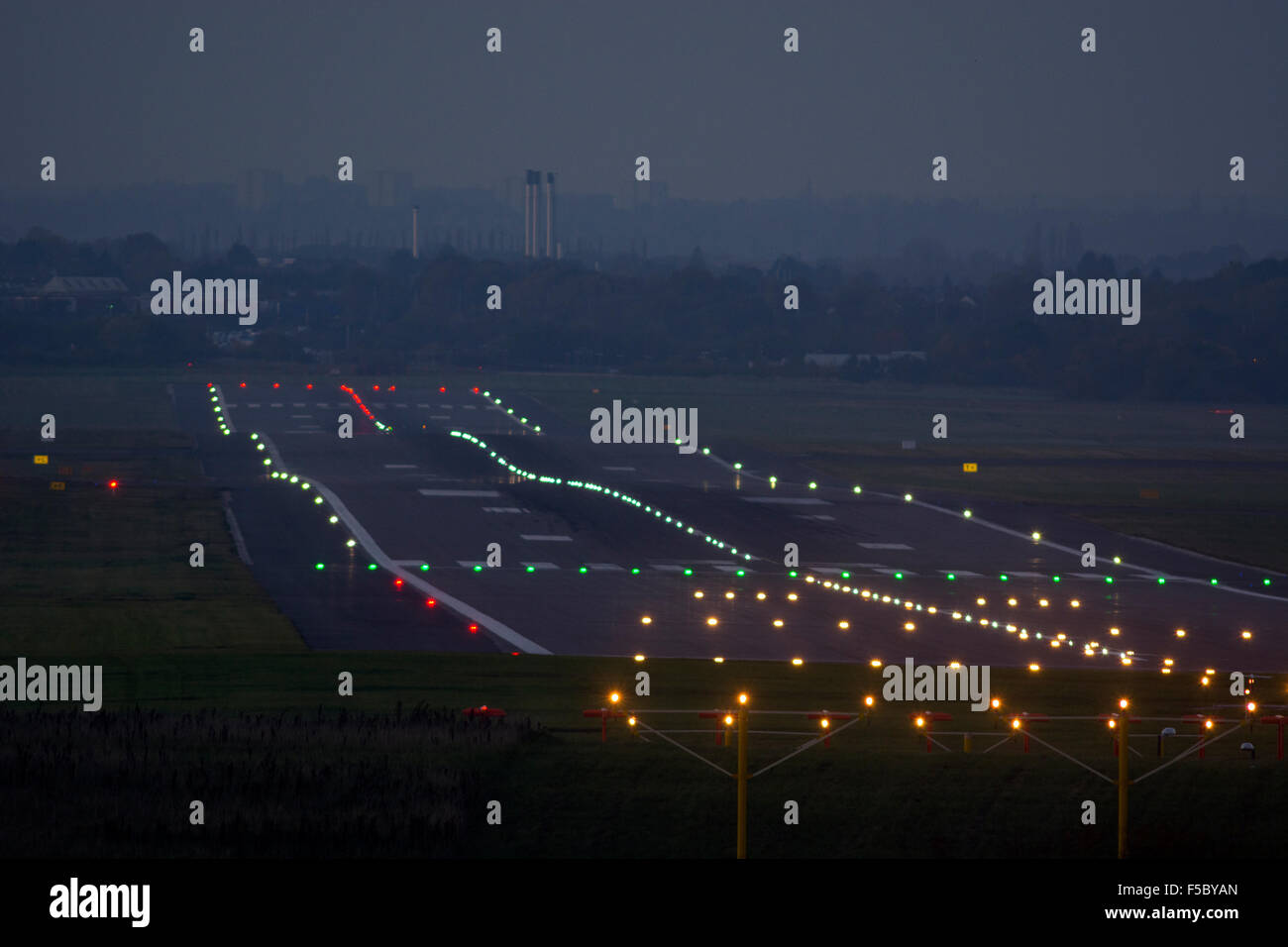 Attractive Runway Lights At Birmingham Airport, UK Idea