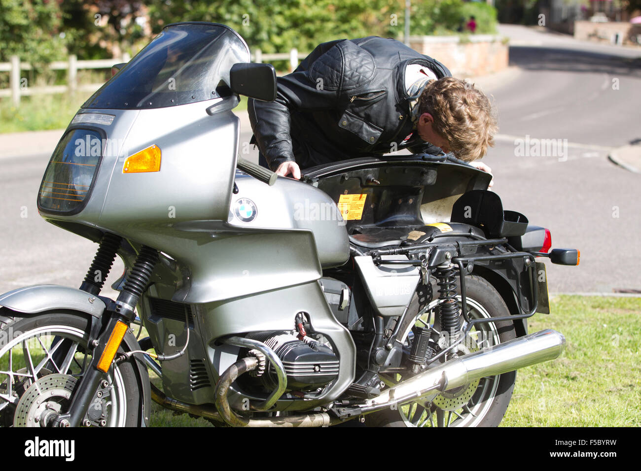 1976 BMW R100 RS two-cylinder air-cooled engine full-fairing