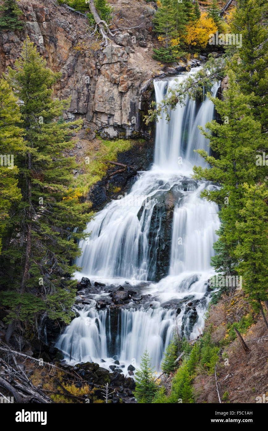 Undine Falls, Yellowstone National Park, Wyoming. - Stock Image