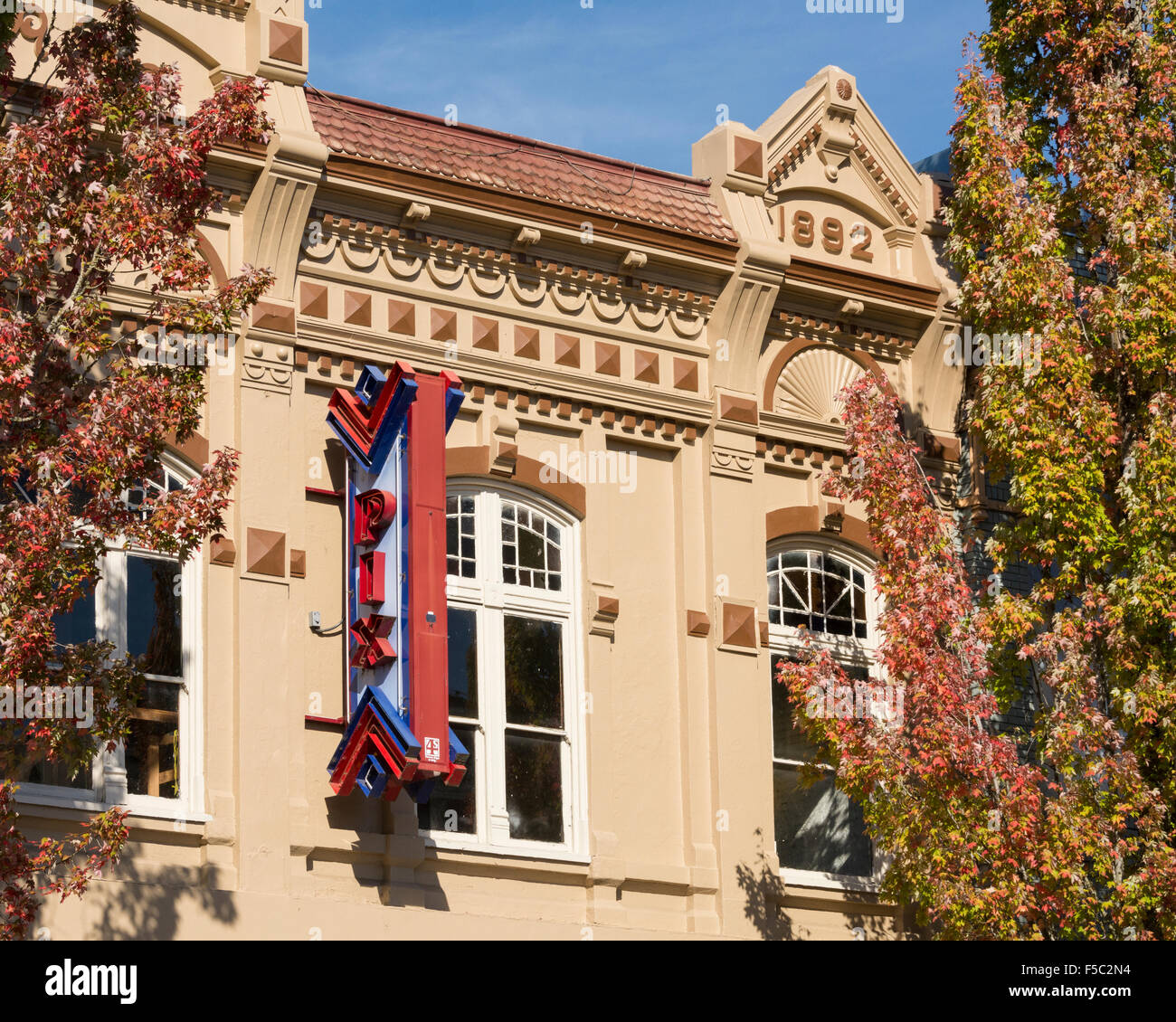 The Pix Theatre building in the downtown Historic District of Albany, Oregon. - Stock Image