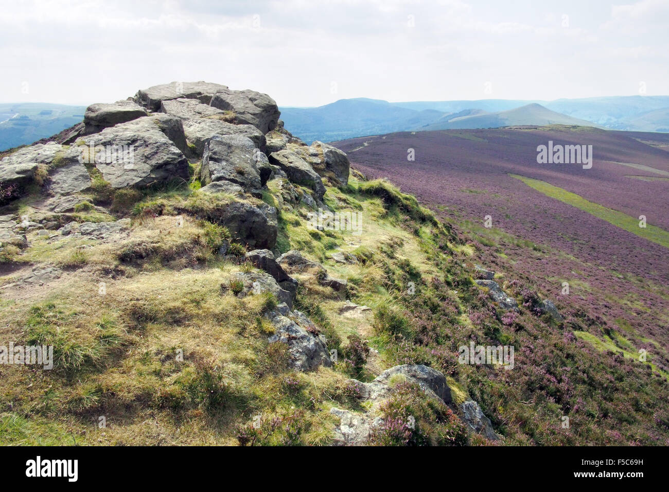Win Hill in Derbyshire Peak District Dark Peak, England UK - Stock Image