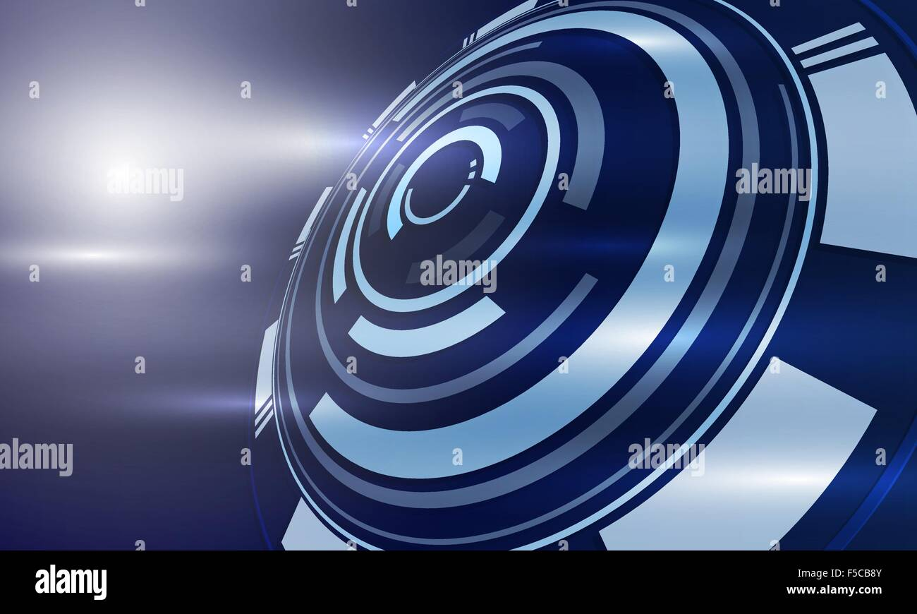 The technological background is cut out and the whole ring.Vector - Stock Image