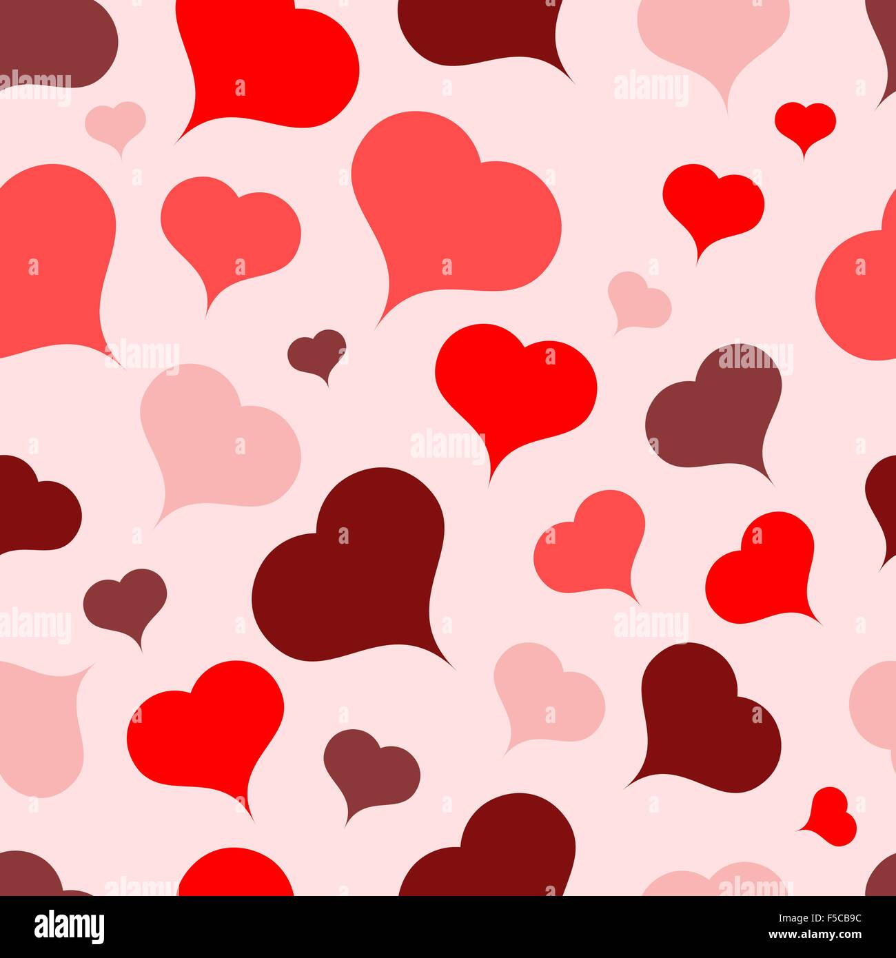 Multi-colored hearts on a light background.Seamless.Vector - Stock Vector