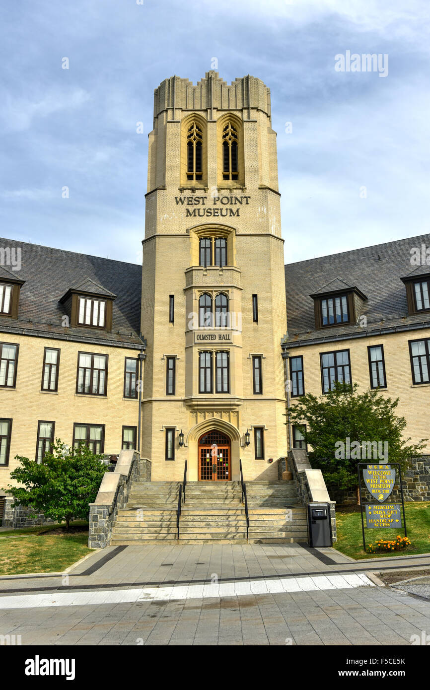 West Point Museum at Olmsted Hall at the US Military Academy, West Point in New York. - Stock Image