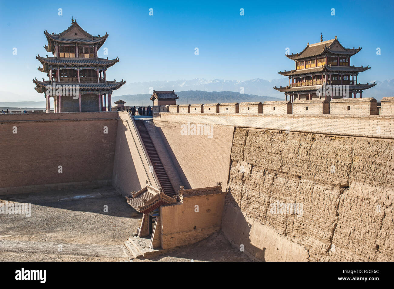 Jiayuguan Castle,Gansu of China - Stock Image