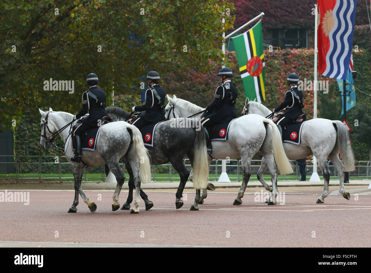 London, UK, 20th Oct 2015: General views from The Mall for the Chinese President Xi Jinping State Visit to London - Stock Image