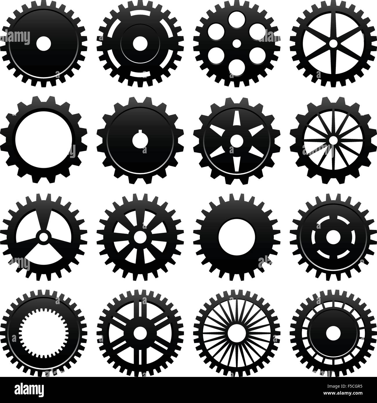 Machine Gear Wheel Cogwheel Vector - Stock Image
