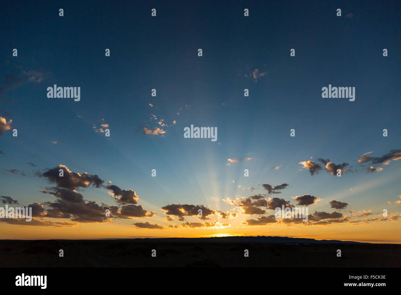 Gobi Desert Sunrise - Stock Image