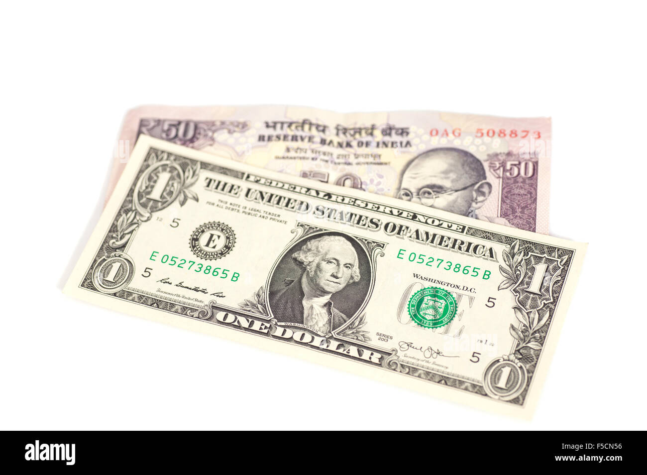 Indian Fifty Rupee Note Stock Photos & Indian Fifty Rupee