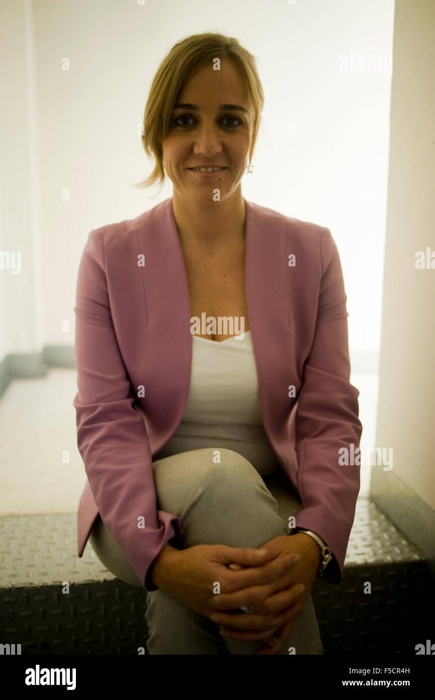 Tania Sanchez, Spanish politician, in Madrid, Spain. Stock Photo