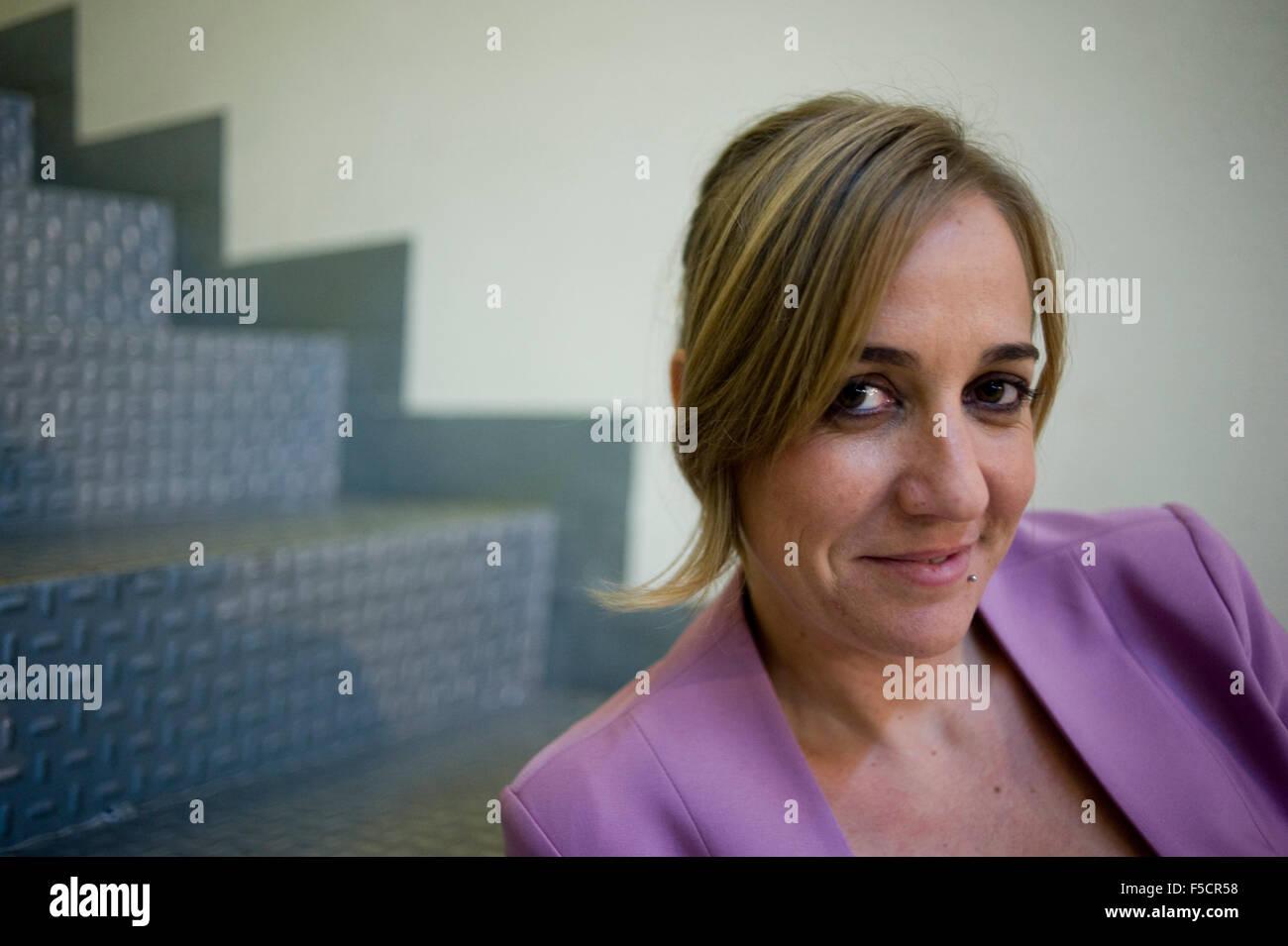 Tania Sanchez, Spanish politician, in Madrid, Spain. - Stock Image