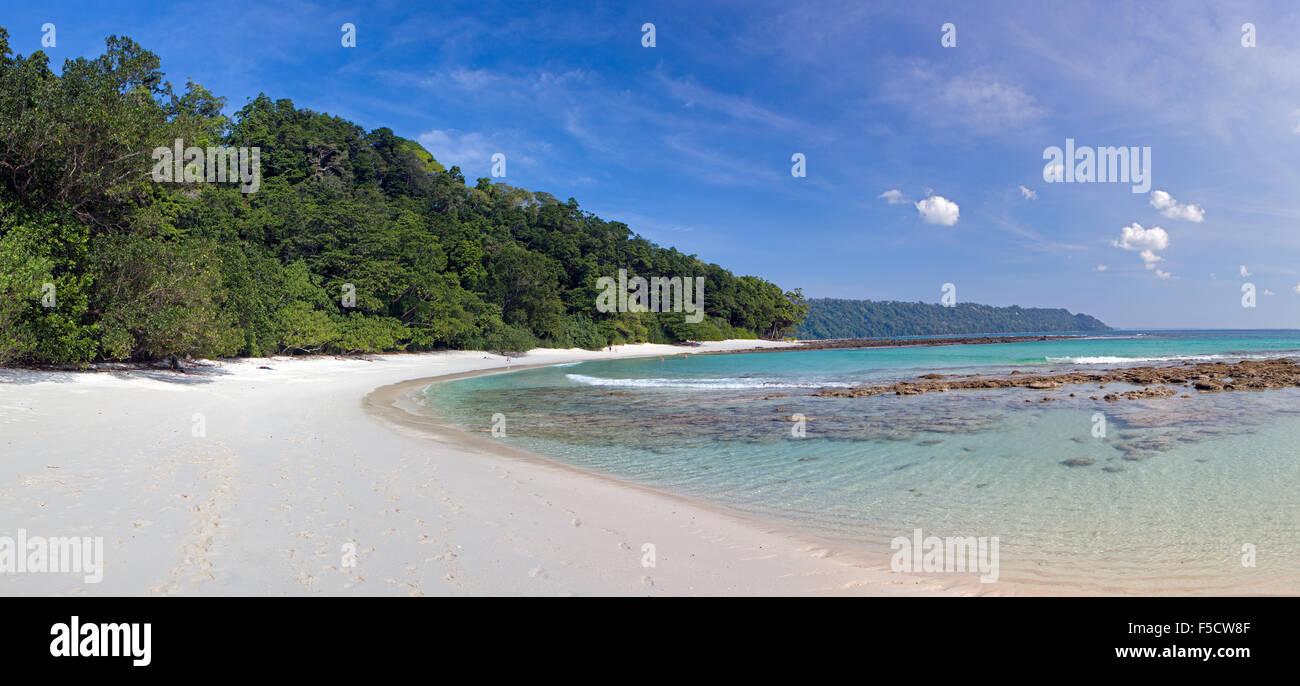 Radhnagar Beach, one of the most beautiful beaches of the world - Stock Image