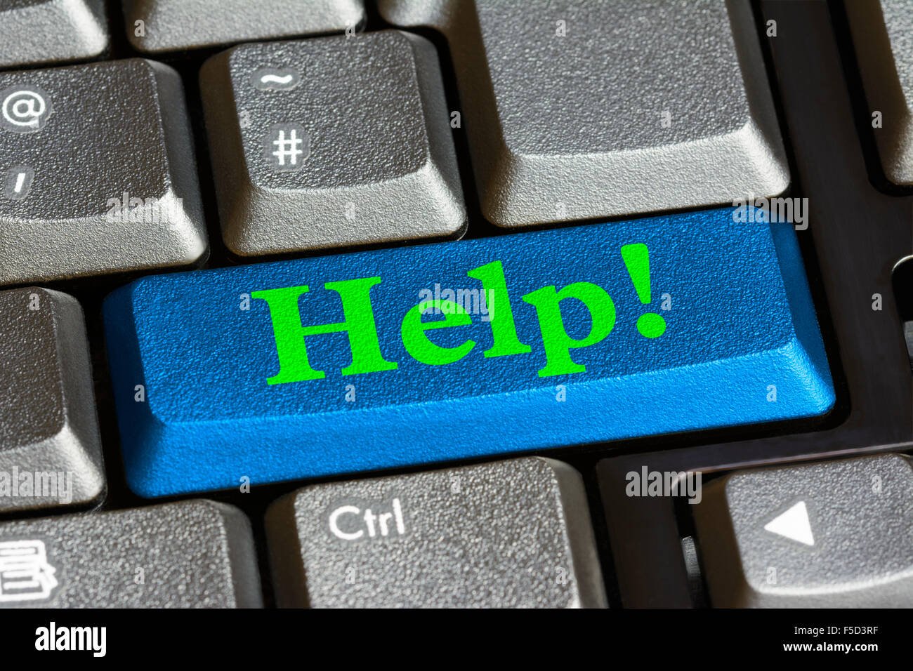 Help button on a computer keyboard. Help concept. - Stock Image