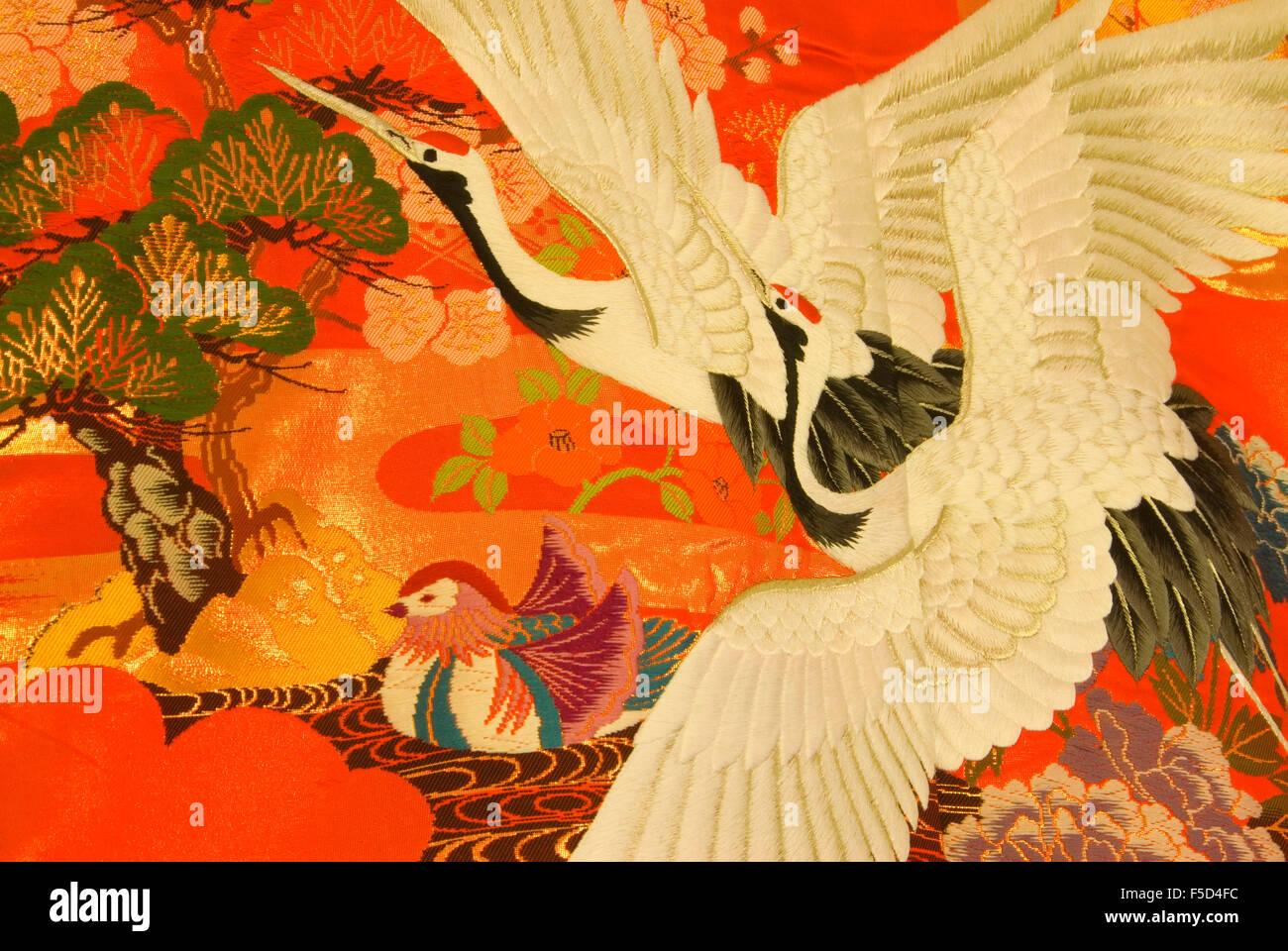 Japanese Kimono Textile Stock Photos & Japanese Kimono Textile Stock ...
