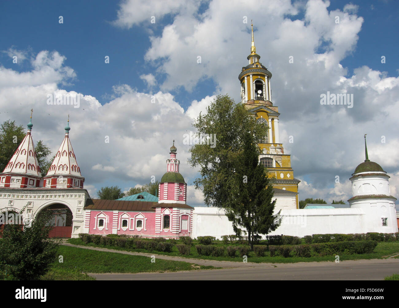 Suzdal, Russia - August 18, 2006: orthodox monastery in historical town Suzdal. - Stock Image