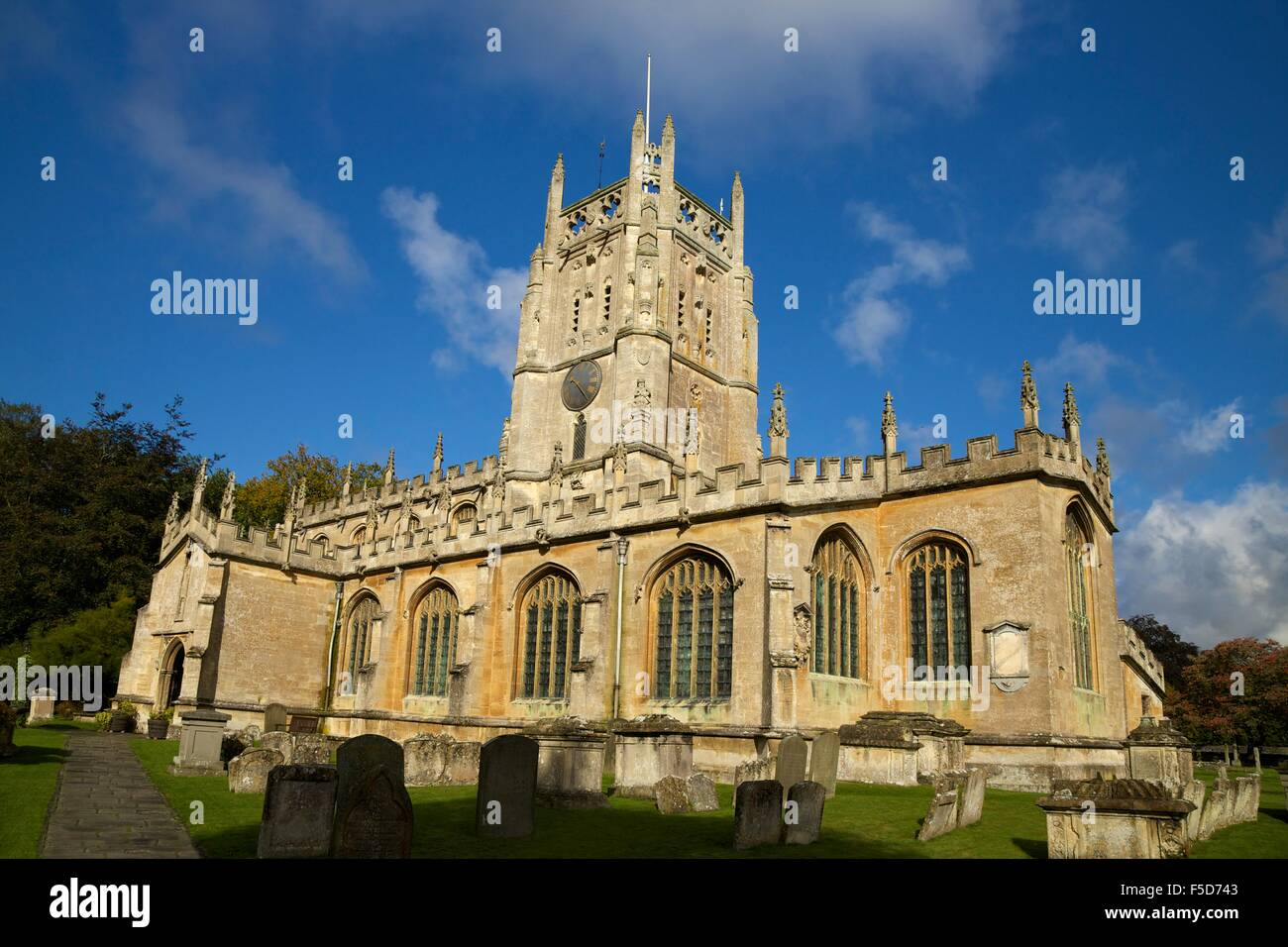 Church of St Mary the Virgin, Fairford, Cotswolds, Gloucestershire, England, UK, GB, Europe - Stock Image