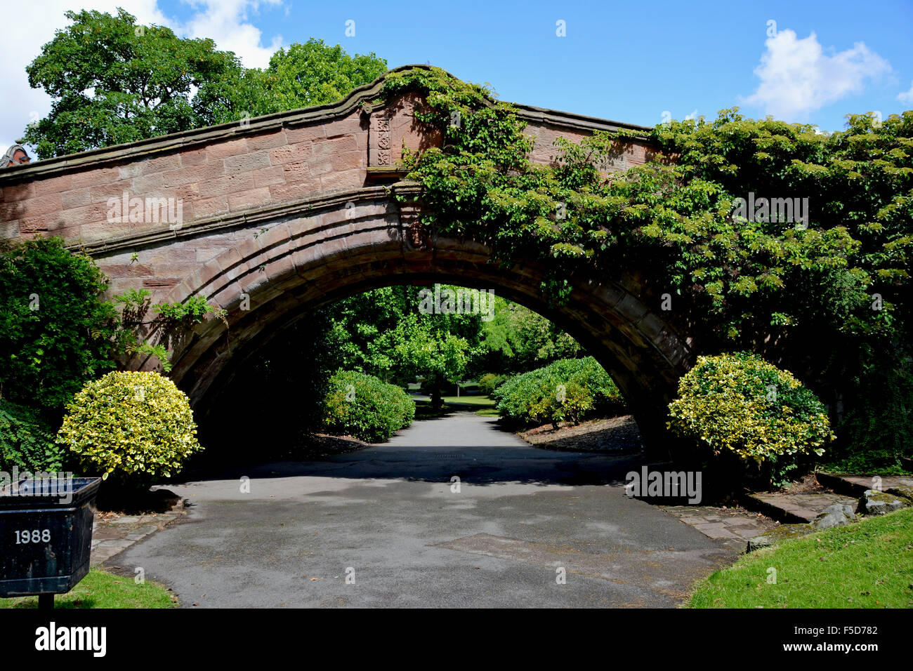 The Iconic Port Sunlight Dell Bridge and on the other side - The LyceumStock Photo