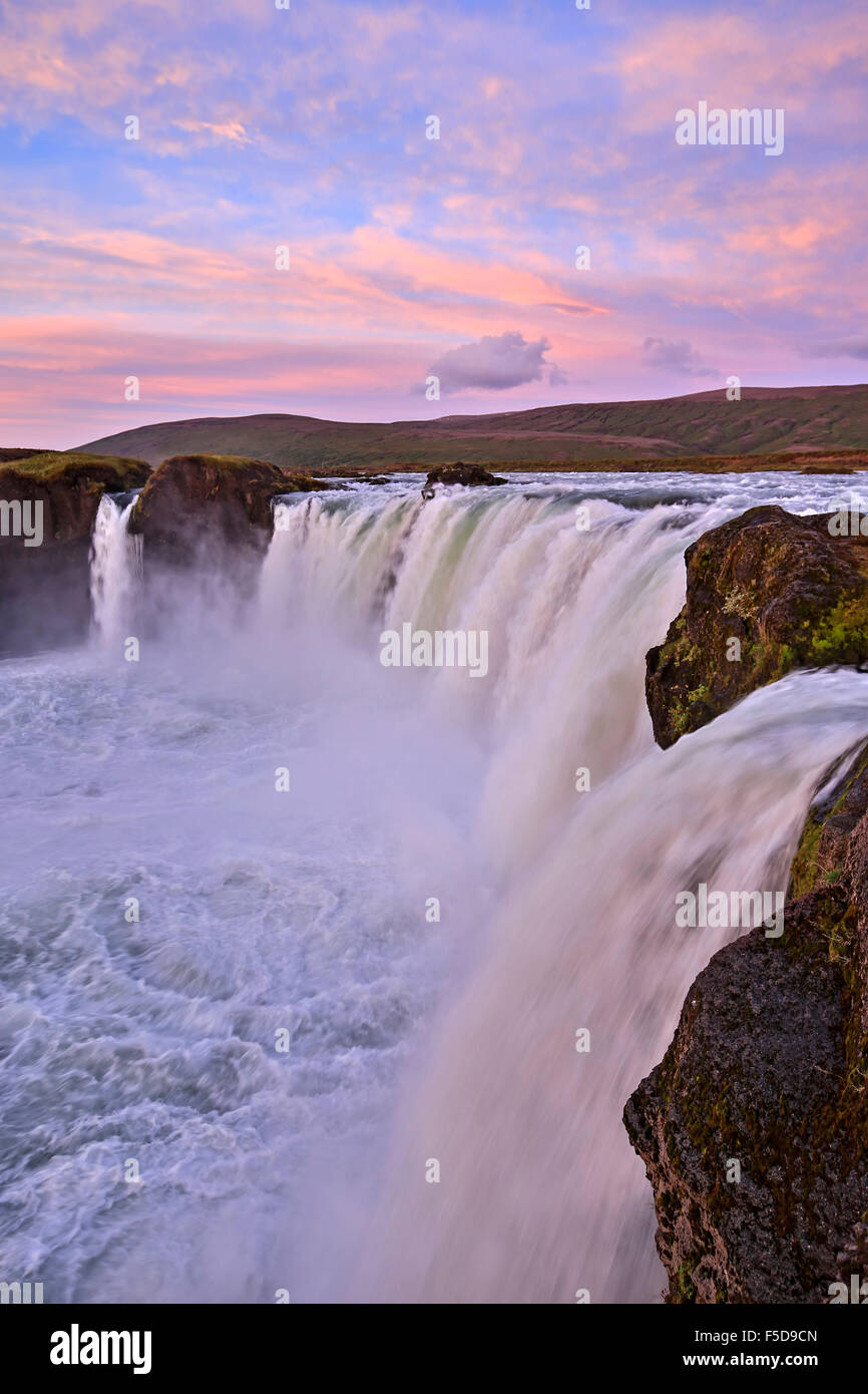 Godafoss Waterfalls, Iceland - Stock Image