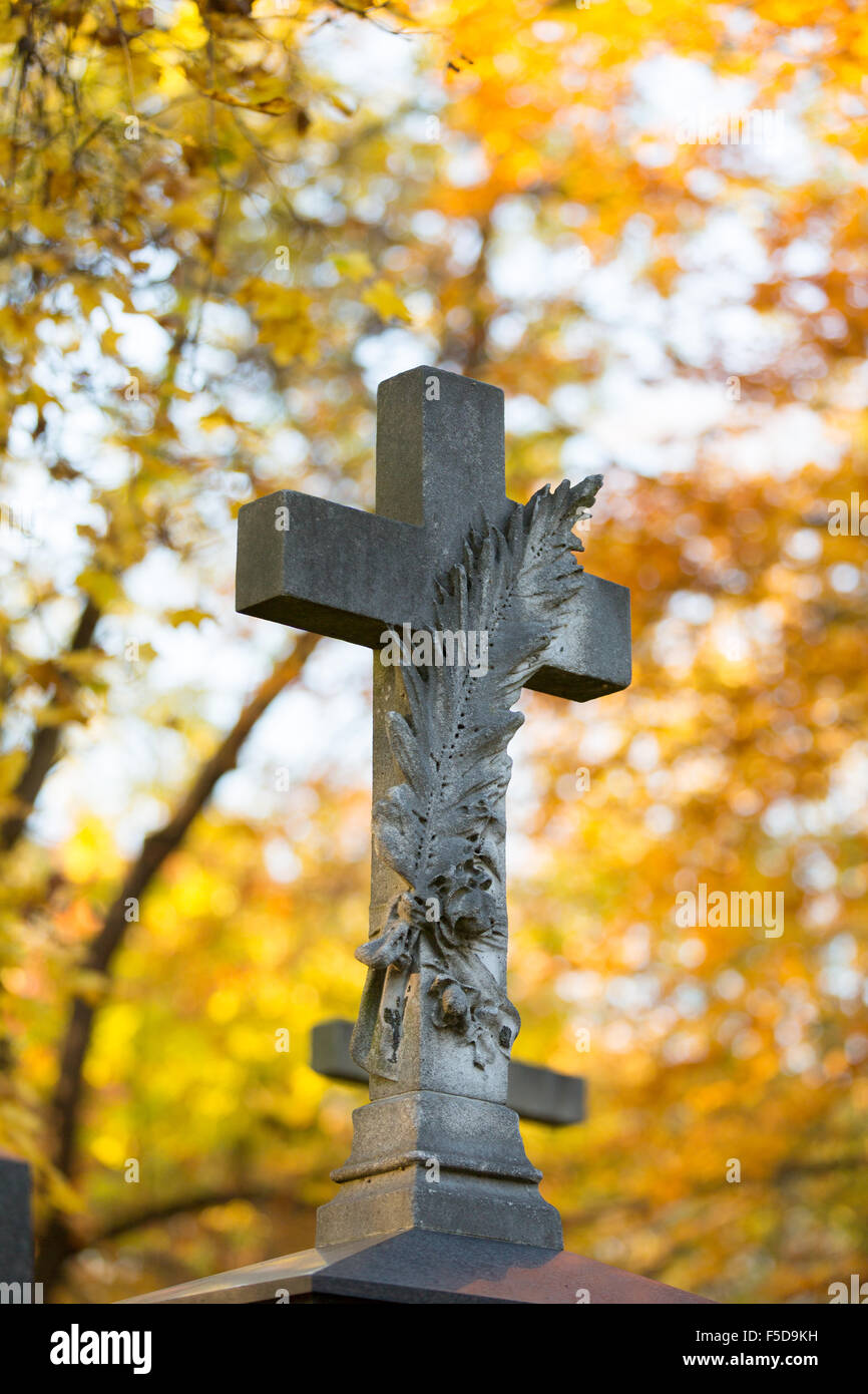 Grave at 'Alter Suedfriedhof' in Munich (Muenchen), Bavaria (Bayern), Germany (Deutschland) - Stock Image