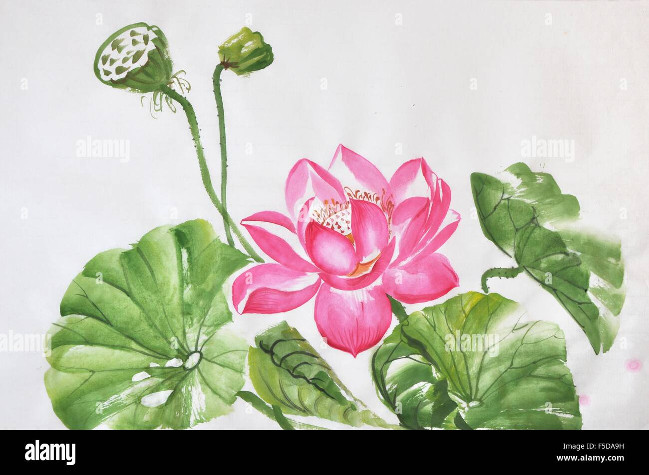 Lotus flower watercolor painting on a rice paper original art lotus flower watercolor painting on a rice paper original art asian style izmirmasajfo
