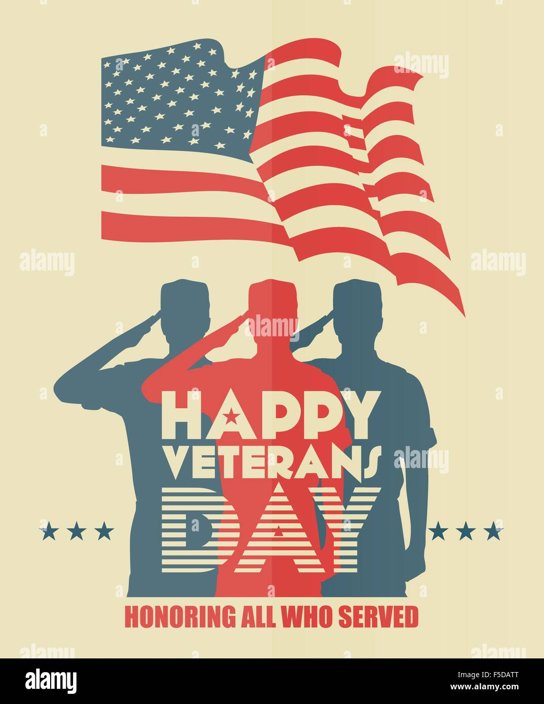 Veterans day greeting vector card stock vector art illustration veterans day greeting vector card m4hsunfo