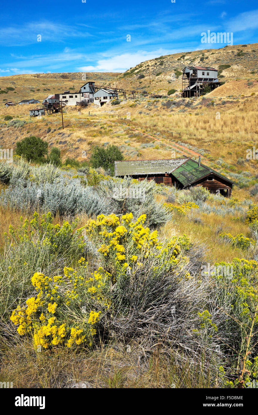 The abandoned Smith Mine, near Red Lodge, Montana, site of
